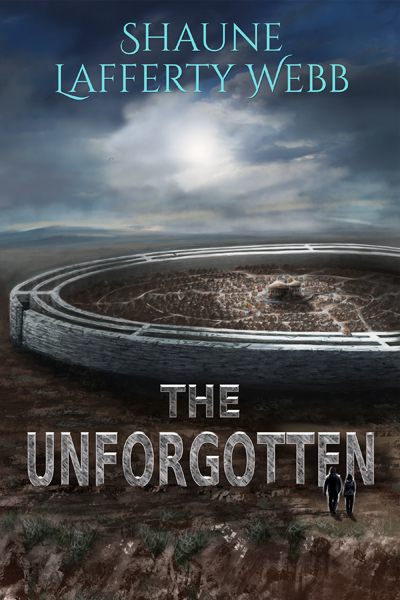 Cover - The Unforgotten - showing an alien town on a dying planet