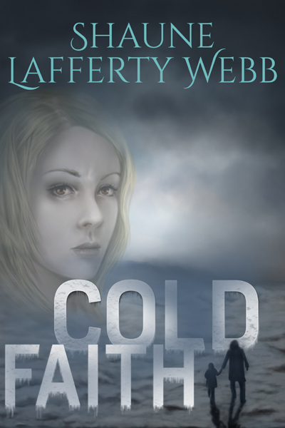 Cover - Cold Faith, frozen wasteland with woman's face