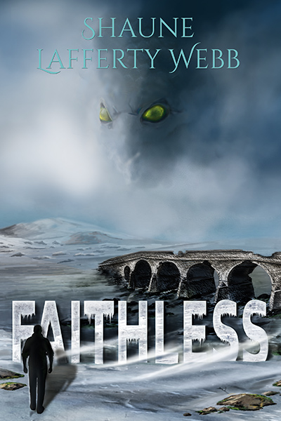 Cover - Faithless showing shadow of man on a desolate snowfield