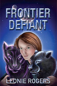 Cover - Frontier Defiant showing Shanna and two starcats