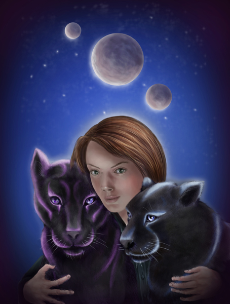 Cover artwork showing Shana and two starcats